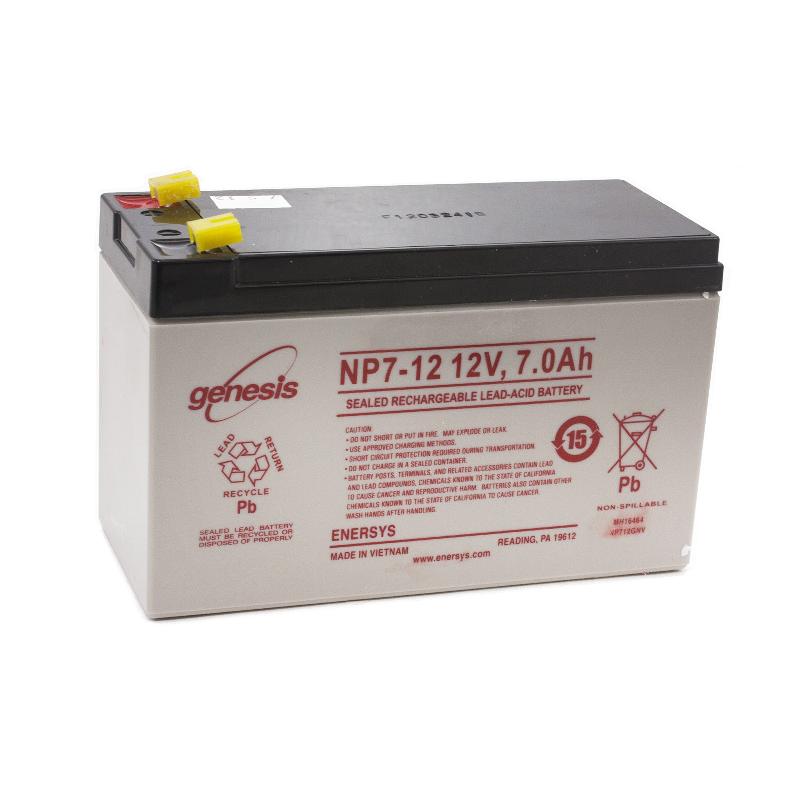 Gto Rb500 Battery  12 Volt  7 0 Amp Hr  For Operator Use